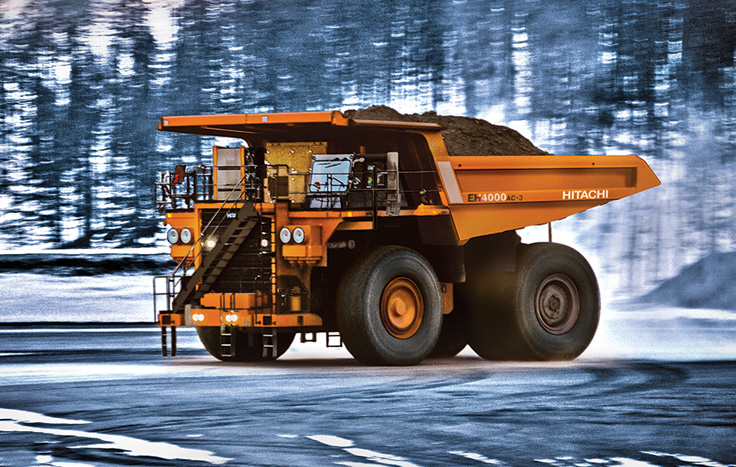 The EH4000AC-3 is one of the most technologically advanced mining trucks in the world.