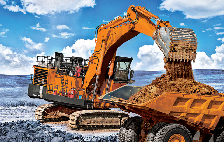 The EX1900-6 comes standard equipped with Hitachi's Global e-Service remote machine management system