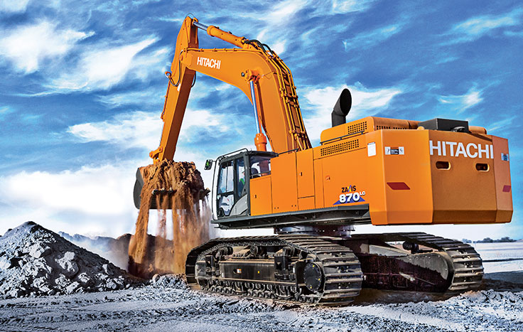 When the job requires a serious excavator to get things done you can count on the ZX870LC-6 – Hitachi's largest production-class excavator.