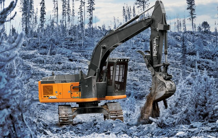 With improved efficiency, reliability and durability, you'll feel confident taking on any woods with the ZX210F-6 Forester from Hitachi.