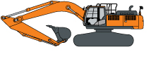 Hitachi ZX380LC-6 Construction Excavator illustrated icon
