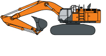 Hitachi ZX670LC-6 Production Excavator illustrated icon
