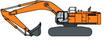 Hitachi ZX870LC-6 Production Excavator illustrated icon