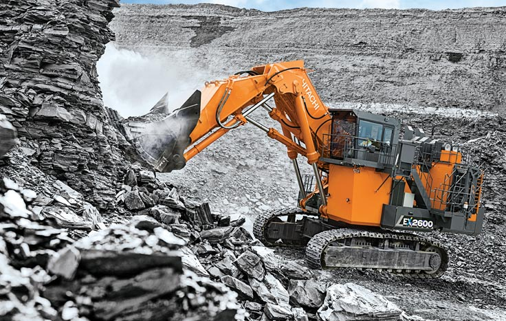 The EX2600-7 comes standard equipped with Hitachi's Global e-Service remote machine management system.