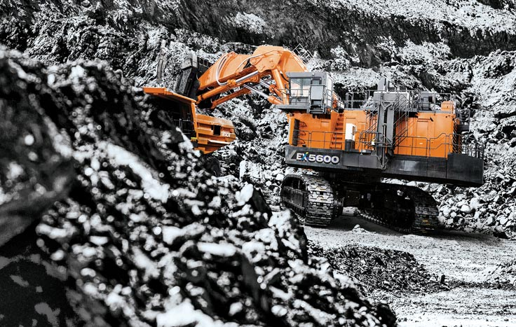 The EX5600-7 comes standard equipped with Hitachi's Global e-Service remote machine management system.