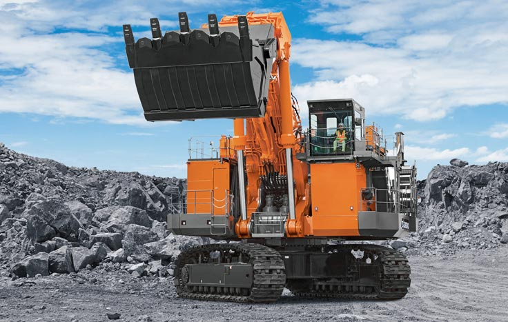 The EX3600-7 comes standard equipped with Hitachi's Global e-Service remote machine management system/