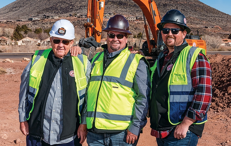 Members of the Rogers family, owners of Rogers Construction
